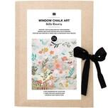 Rico Design Vorlagenmappe Fenster- und Glasmalerei mit Kreidestiften Hello Flowers