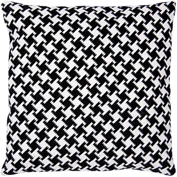 Rico Design Gobelin Kissen Pepitamuster schwarz-weiß 40x40cm Stick-Set