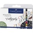 Faber Castell Tuschestift Pitt Artist Pen Calligraphy 8 Stück