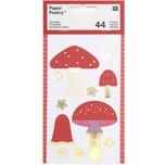 Paper Poetry Sticker Pilze 4 Blatt