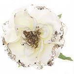 Rosenblüte am Clip 10,5cm weiß