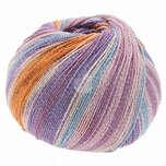 Lana Grossa Meilenweit 100 Cotton Bamboo Butterfly 100g 420m lila Mix
