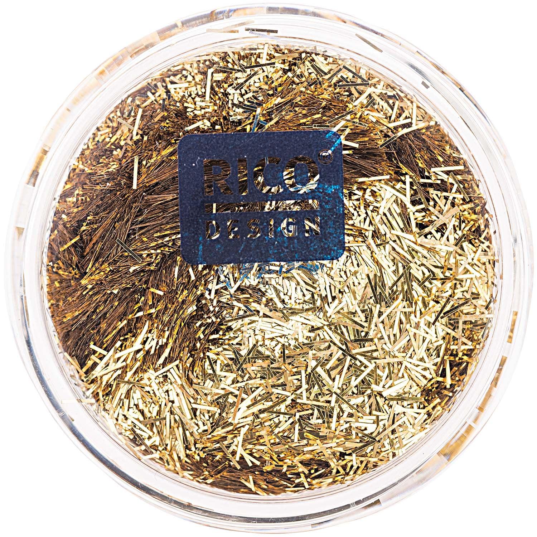 Rico Design Stäbchen Glitter 9g gold