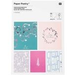 Paper Poetry Postkartenblock Nostalgic Christmas pastell 12,5x17,6cm