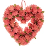 Ohhh! Lovely! Holzblumenkranz herzförmig rosa 36x38cm