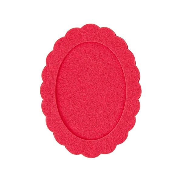 Rico Design Filzrahmen oval azalee 10,5x14cm