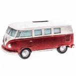 Spardose Campingbus Nostalgie weiß-rot 13x5cm