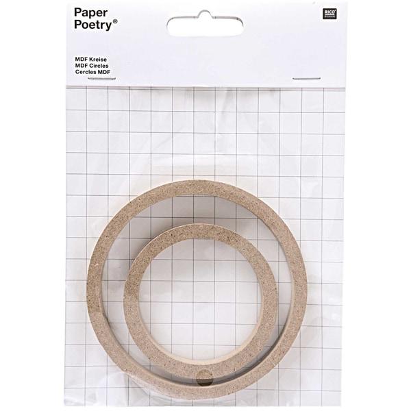 Paper Poetry MDF Kreise 2 Stück