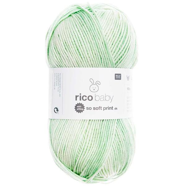 Rico Design Baby So Soft Print dk 100g 250m mint