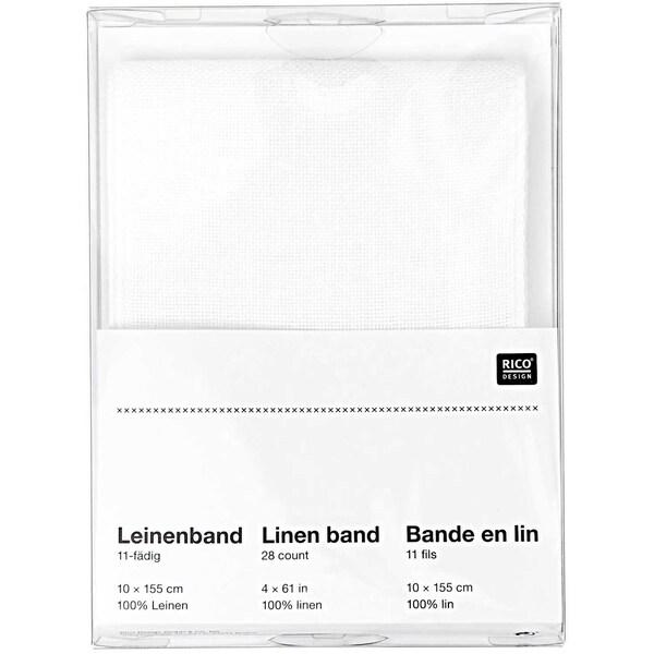 Rico Design Leinenband weiß 10x155cm zum Besticken