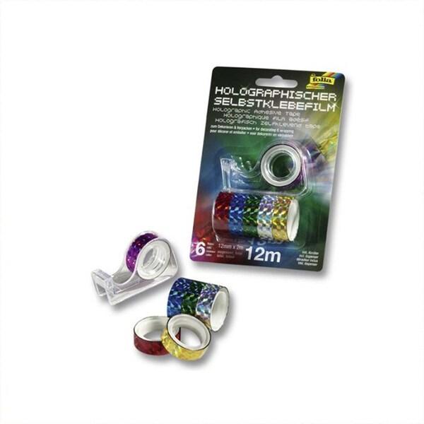 Folia Abroller mit holographischem Klebeband mehrfarbig 7teilig