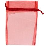 Beutel Organza 17,5x12,5cm 4 Stück rot