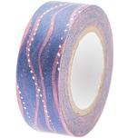 Paper Poetry Tape Mermaid Wellen blau-rosa 1,5cm 10m