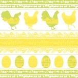 Ambiente Serviette Silhouette yellow-green 33x33cm 20 Stück