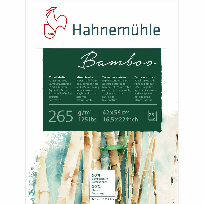 Hahnemühle Block Bamboo Mixed Media 265g/m² 25 Blatt 8 x 10,5 cm