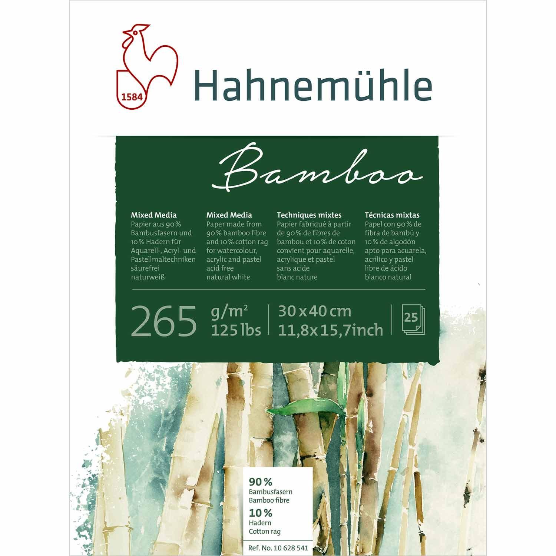 Hahnemühle Block Bamboo Mixed Media 265g/m² 25 Blatt 30 x 40 cm