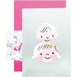 Paper Poetry DIY-Grußkartenset Hello Baby Kindergesichter