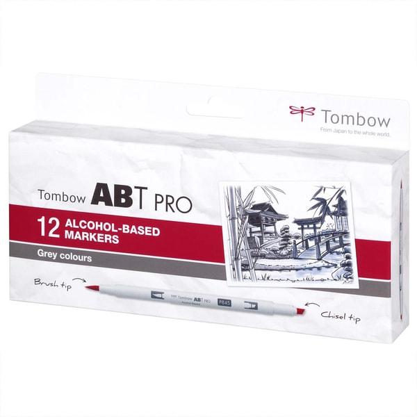Tombow ABT PRO Grey Colours Alkoholbasierte Marker 12teilig