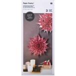 Paper Poetry Bastelset Papiertüten-Sterne Jolly Christmas groß rot