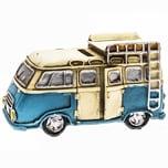 Spardose Campingbus gelb-blau 13,7x7,5cm