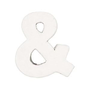Rico Design 3D Pappbuchstaben weiß stehend &