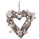 Herz zum Hängen weiß-natur 25x23cm