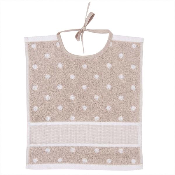 Rico Design Lätzchen mit weißen Punkten 30x34cm beige-weiß