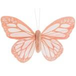 Schmetterlingmit Clip rosa 12cm