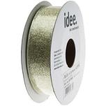 Band metallic 25mm 10m pastellgrün