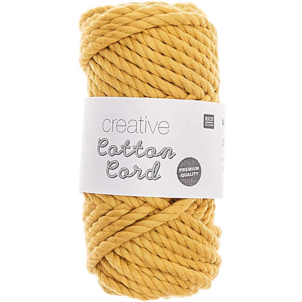 Rico Design Creative Cotton Cord 130g 25m senf