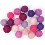 Rico Design Filzkugelmix 1,5cm 20 Stück pink/violett