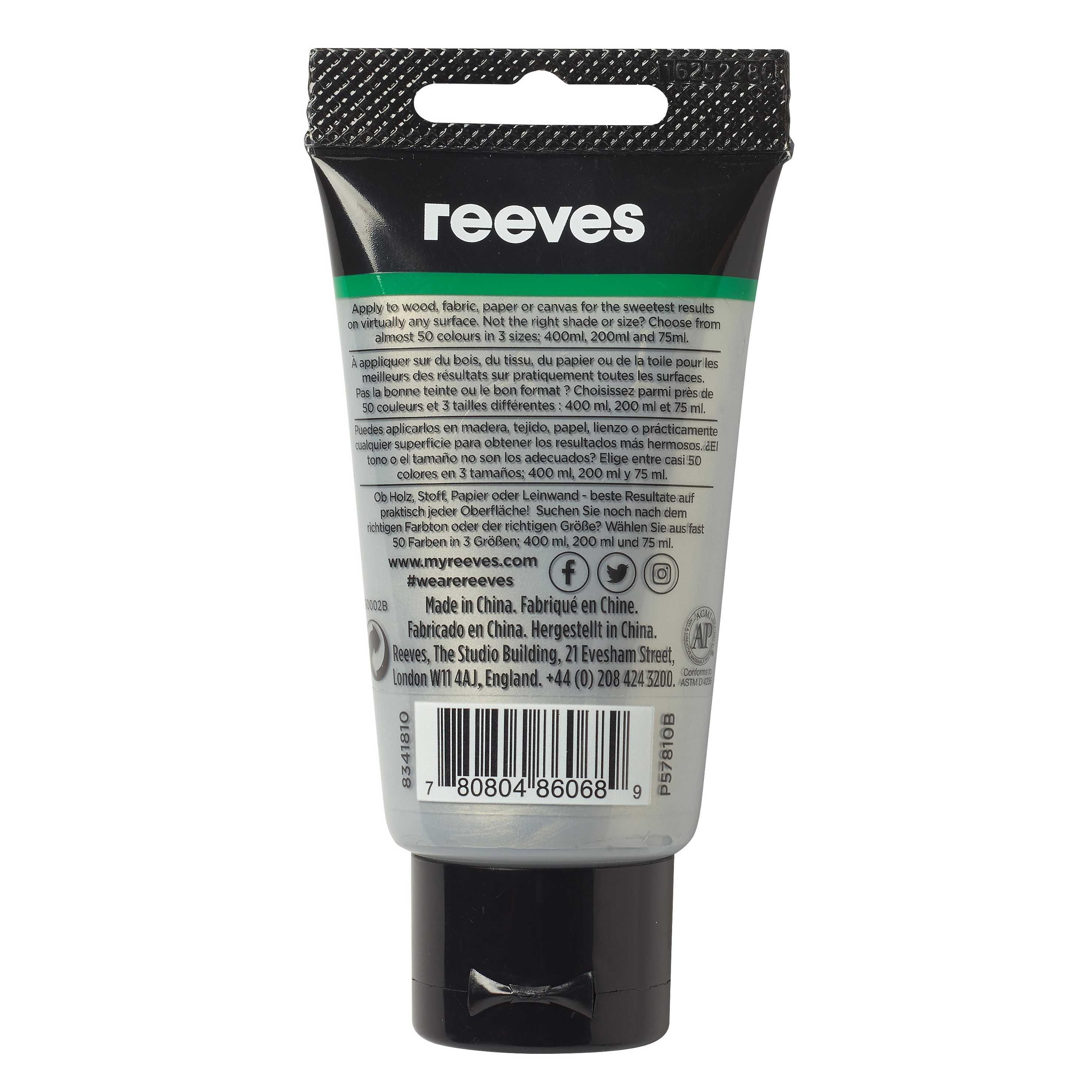 reeves Acrylfarbe 75ml silber