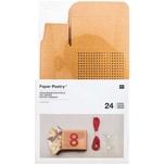 Paper Poetry Adventskalenderboxen zum Besticken natur