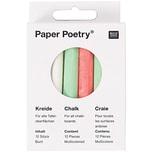 Paper Poetry Kreide mehrfarbig 12 Stück