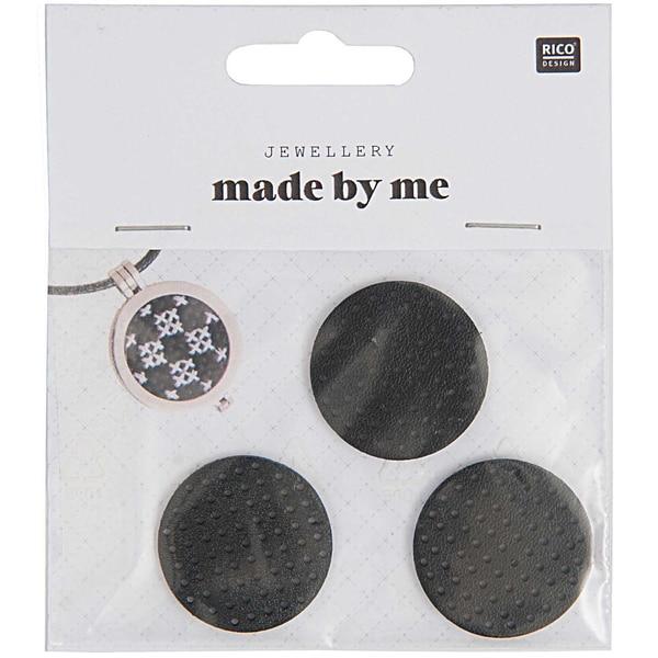 Jewellery Made by Me Scheibe zum Besticken schwarz 30mm