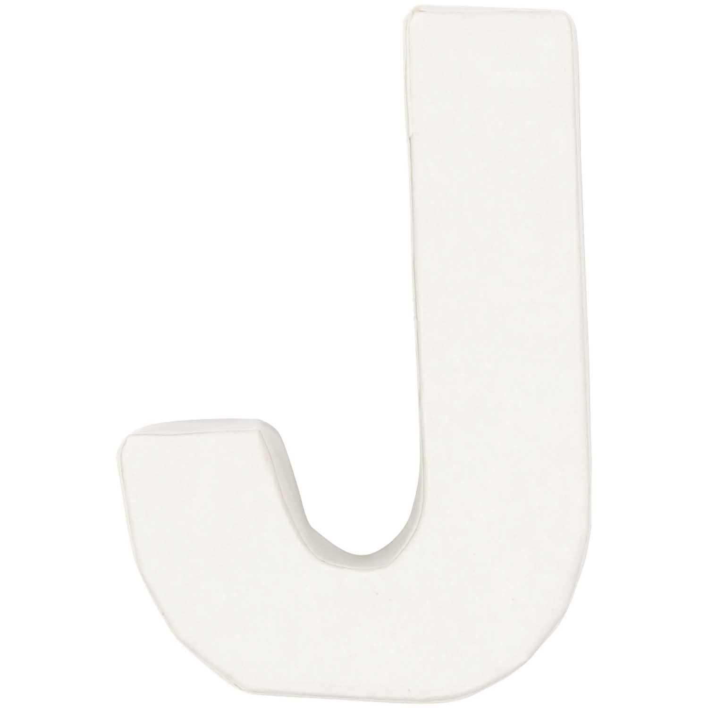 Rico Design 3D Pappbuchstaben weiß stehend J