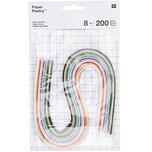 Paper Poetry Quilling Papierstreifen mehrfarbig 8mm 200 Stück