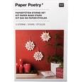 Paper Poetry Bastelset Papiertüten-Sterne Punkte klein weiß