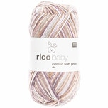 Rico Design Baby Cotton Soft Print dk 50g 125m flieder-braun