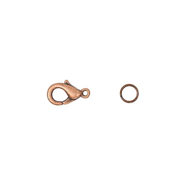 Jewellery Made by Me Karabiner mit 2 Federringen kupferfarbig 12mm