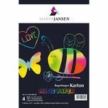 MARPA JANSEN Magic Paper Regenbogenkarton mit schwarzer Deckschicht 14x22cm 4 Blatt