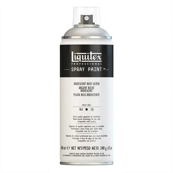 Liquitex Acrylspray 400ml reiches silber irisierend