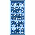 KREUL Motiv-Schablone Alphabet und Zahlen selbstklebend 13x28cm