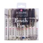 ECOLINE Brush Pen Set 10 Stück grau