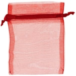 Beutel Organza 12,5x10cm 4 Stück rot