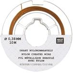 Rico Design Edelstahlseide 0,38mm 10m kupferfarbig