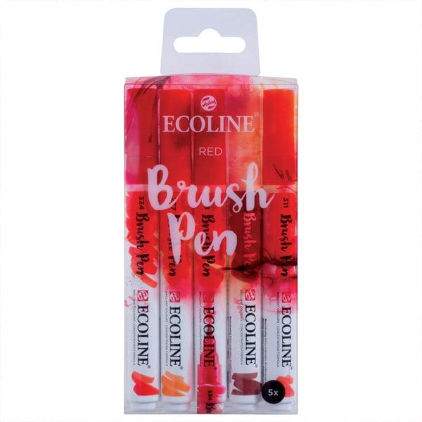 ECOLINE Brush Pen Set 5 Stück rot