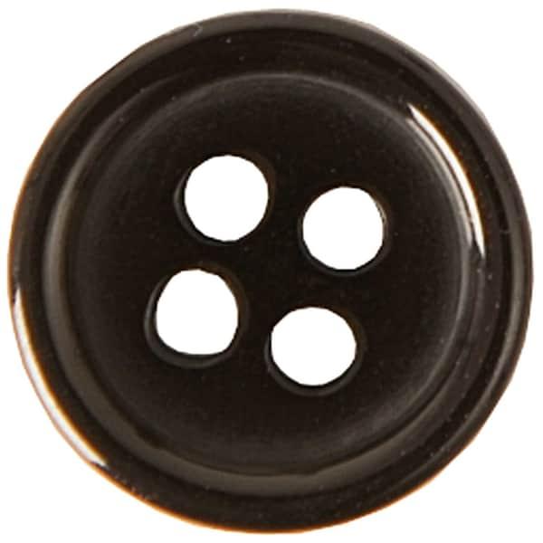 Rico Design Knopf schwarz 11mm 12 Stück