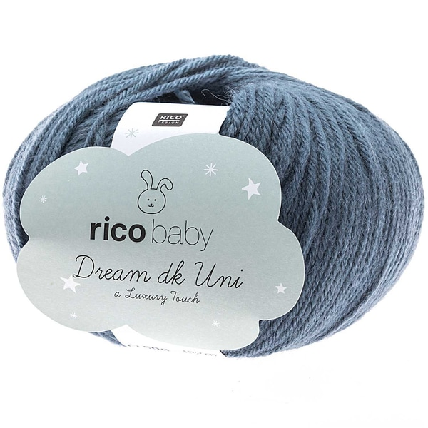 Rico Design Baby Dream dk uni - A Luxury Touch 50g 122m patina