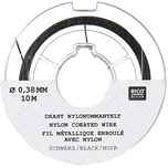 Rico Design Edelstahlseide 0,38mm 10m schwarz